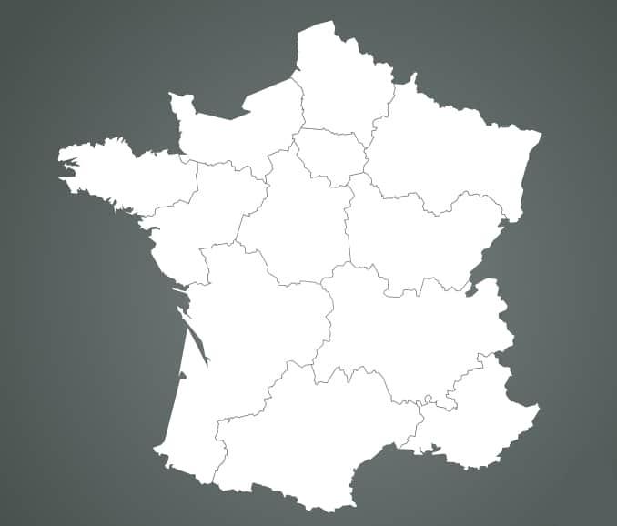 Carte de France : localisation des centres de formations Manuteo.