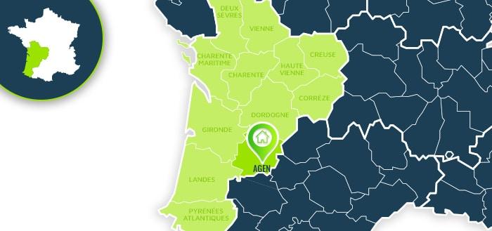 Centre de formation : Agen / Lot-et-Garonne.