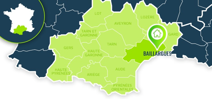 Centre de formation : Baillargues / Hérault.