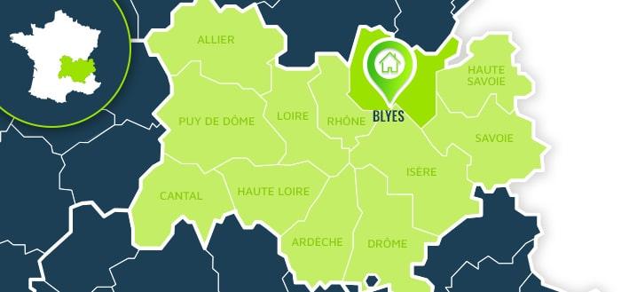 Centre de formation : Blyes / Ain.