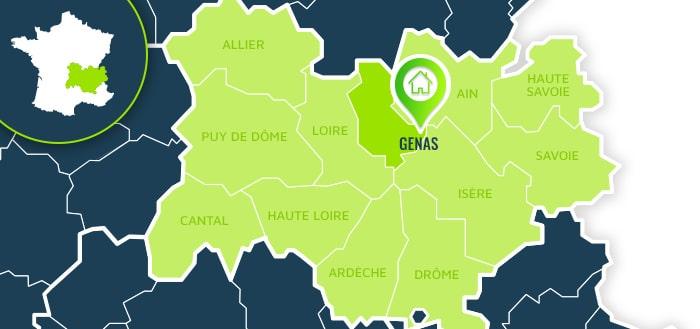 Centre de formation : Genas / Rhône.