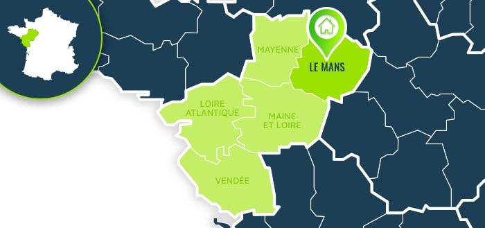 Centre de formation : Le Mans / Sarthe.