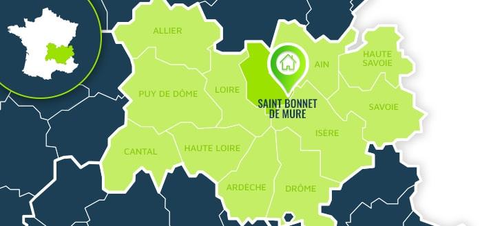 Centre de formation : Saint Bonnet de Mure / Rhône.