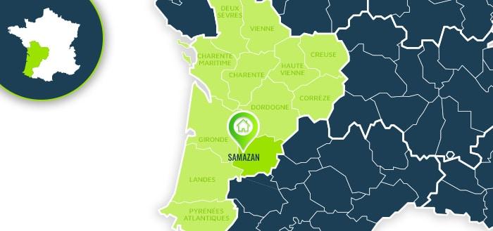 Centre de formation : Samazan / Lot-et-Garonne.