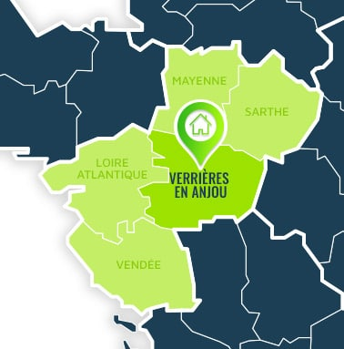 Localisation centre de formations Verrières en Anjou (Maine-et-Loire / Pays de la Loire).