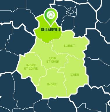 Localisation centre de formations Gellainville (Eure-et-Loir / Centre-Val de Loire).