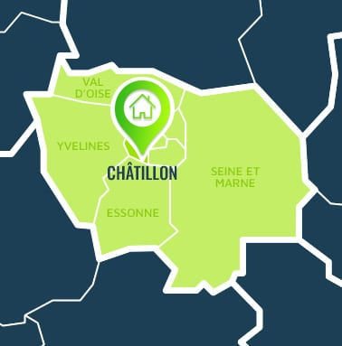 Localisation centre de formations Châtillon (Hauts-de-Seine / Île-de-France).