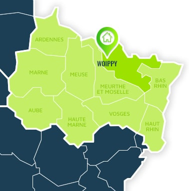 Localisation centre de formations Woippy (Moselle / Alsace-Champagne-Ardennes-Lorraine).