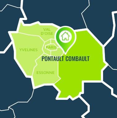 Localisation centre de formations Pontault Combault (Seine-et-Marne / Île-de-France).
