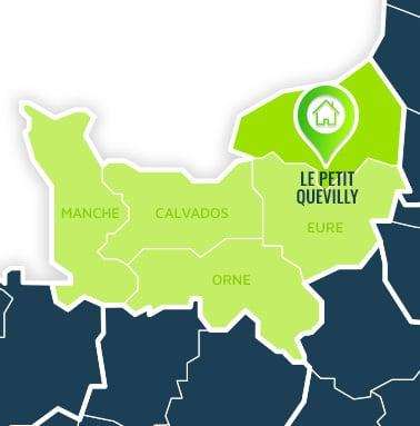 Localisation centre de formations Le Petit Quevilly (Seine-Maritime / Normandie).