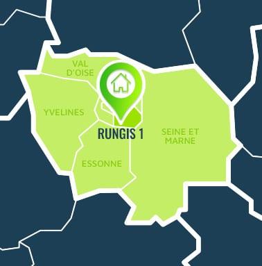 Localisation centre de formations Rungis 1 (Val-de-Marne / Île-de-France).