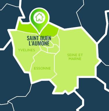 Localisation centre de formations Saint Ouen l'Aumone (Val-d'Oise / Île-de-France).
