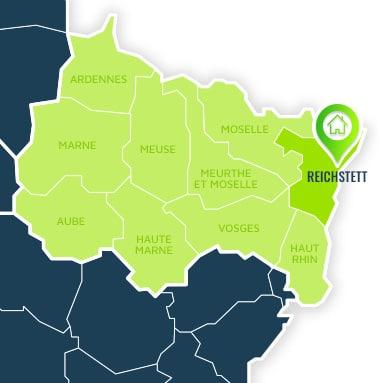Localisation centre de formations Reichstett (Bas-Rhin / Alsace-Champagne-Ardennes-Lorraine).