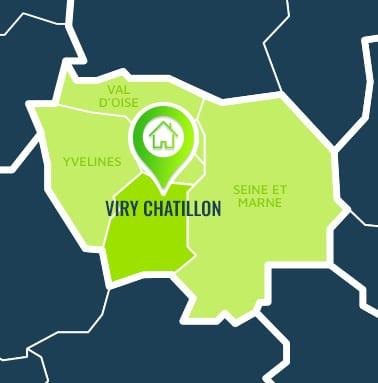 Localisation centre de formations Viry Chatillon (Essonne / Île-de-France).